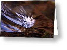 Gentle Ripple In River-2 Greeting Card