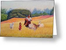 Gentle Shepherdess Greeting Card