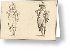 Gentleman Viewed From The Front With Hand On Hip Greeting Card
