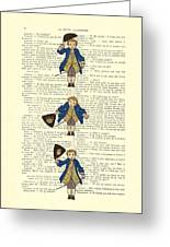 Gentlemen Taking A Bow Dressed As Napoleon Bonaparte Greeting Card