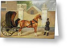 Gentlemen's Carriages - A Cabriolet Greeting Card by Charles Hancock