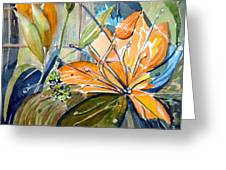 Geo Day Lilies Greeting Card