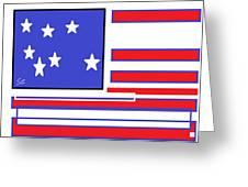 Geo Flag Greeting Card