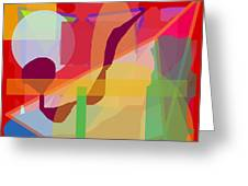 Geo Frenzy Greeting Card