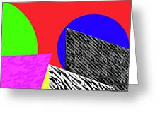 Geo Shapes 2 Greeting Card