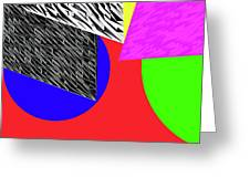 Geo Shapes 2a Greeting Card