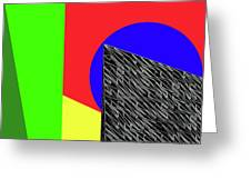 Geo Shapes 3 Greeting Card