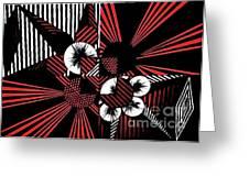 Geometric 8 Greeting Card