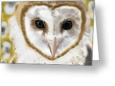 Geometric Barn Owl Greeting Card