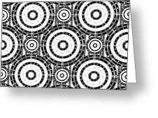 Geometric Black And White Greeting Card