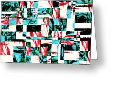 Geometric Confusion 2 Greeting Card