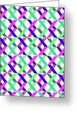 Geometric Crosses Greeting Card