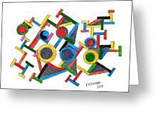 Geometric Fun Greeting Card