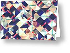 Geometric Grunge Pattern Greeting Card