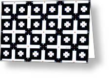 Geometric In Black And White Greeting Card