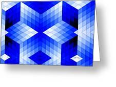 Geometric In Blue Greeting Card