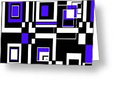Geometric Pizazz 5 Greeting Card