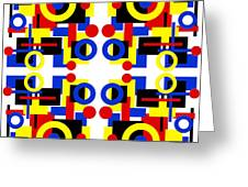 Geometric Shapes Abstract Square 3 Greeting Card