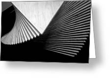Geometric Shapes And Stairs Greeting Card