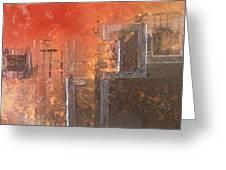 Geometric Square Greeting Card
