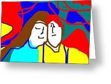 George And Emily Greeting Card