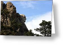George At Mount Rushmore Greeting Card