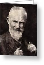 George Bernard Shaw Author Greeting Card