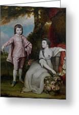 George Capel, Viscount Malden, And Lady Elizabeth Capel Greeting Card