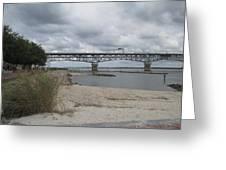 George Coleman Bridge Yorktown, Virginia Greeting Card