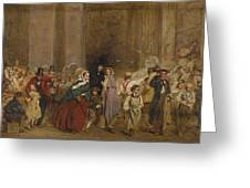 George Elgar Hicks   Sketch Of The General Post Office  One Minute To Six  1860 Greeting Card