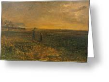George Fuller   Twilight On The Prairie Greeting Card