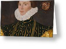 George Gower Portrait Of Thomas Slingsby 1556  1579 1577 Greeting Card