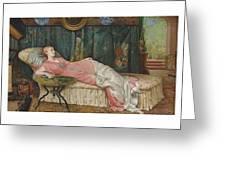 George Hamilton Barrable  Fl  1873  1887  Dolce Far Niente Greeting Card