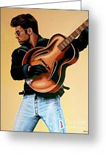 George Michael Painting Greeting Card