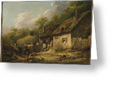 George Morland  The Bell Inn Greeting Card