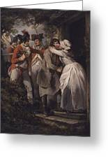 George Morland   The Deserters Farewell Greeting Card