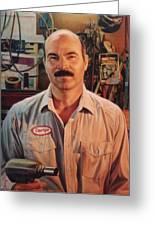 George My Mechanic Greeting Card