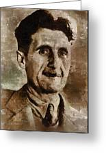 George Orwell Author Greeting Card