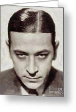 George Raft, Vintage Actor Greeting Card