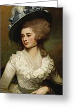 George Romney - Portrait Of Lady Caroline Price 1774 Greeting Card
