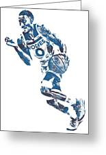 George Teague Minnesota Timberwolves Pixel Art 1 Greeting Card