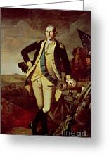 George Washington At Princeton Greeting Card by Charles Willson Peale