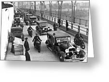George Washington Bridge Open Greeting Card