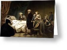 George Washington On His Deathbed Greeting Card