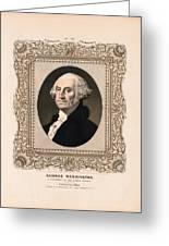 George Washington - Vintage Color Portrait Greeting Card