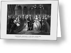 George Washington's Reception At White House - 1776  Greeting Card