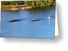 Georgetown Crew On The Potomac? Greeting Card