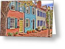 Georgetown Row House Greeting Card