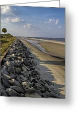 Georgia Atlantic Sea Barrier Greeting Card