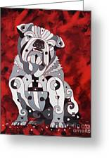 Georgia Bull Dog Greeting Card
